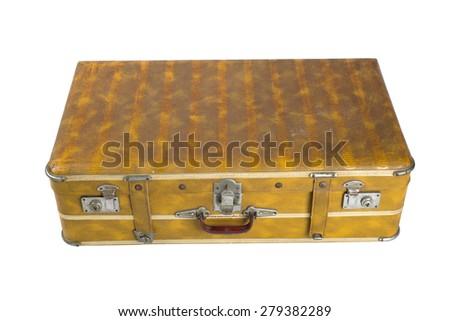 Retro suitcase - stock photo