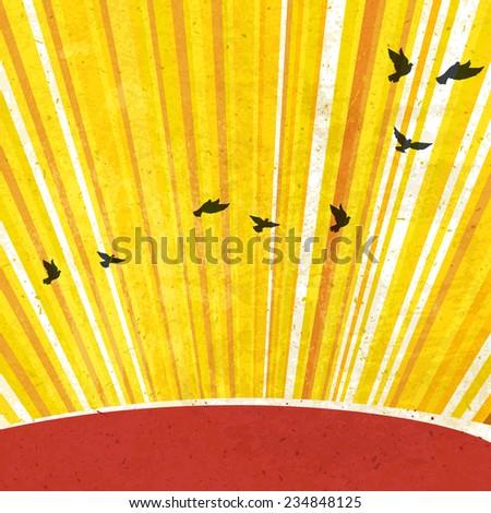 Retro Sunrays Background. Raster version - stock photo