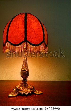 retro table lamp - stock photo