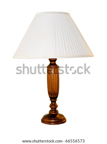 Retro table lamp isolated with clipping path included - stock photo