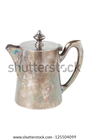 retro teapot or coffee pot, jug isolated on white background