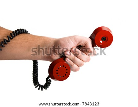 Retro Telephone tube in hand