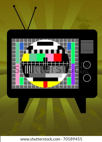 Retro television. Also available as vector.