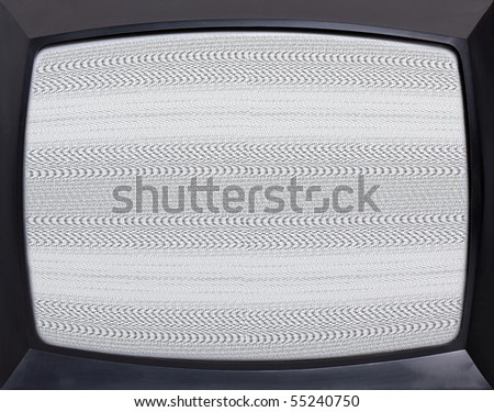 Retro television equipment noise display screen - stock photo