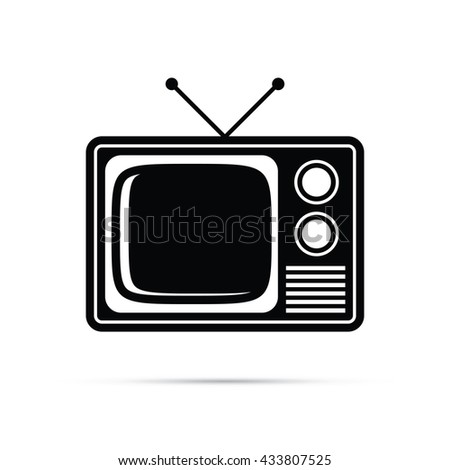 Retro Television Icon.  Raster Version - stock photo