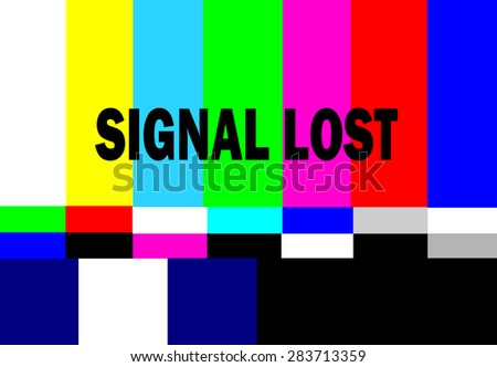 retro television test pattern with signal lost message - stock photo
