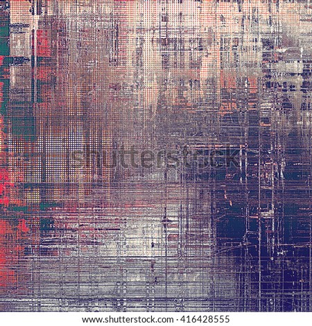 Retro texture, shabby and ragged background in grunge style. With different color patterns: blue; gray; red (orange); purple (violet); pink - stock photo