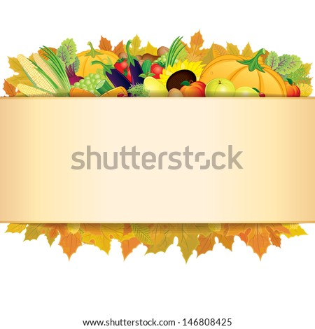 Retro Thanksgiving Background. - stock photo