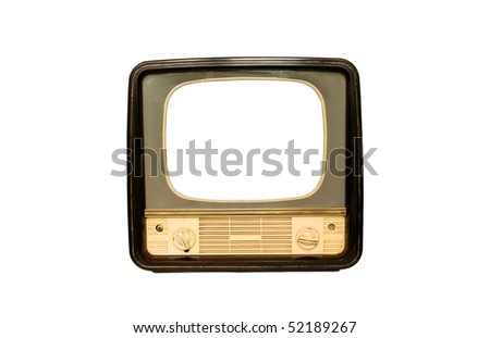 Retro the TV on a white background - stock photo