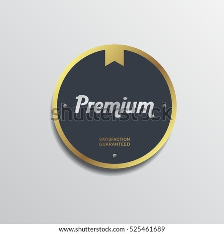 retro theme product quality label sticker badge - premium original exclusive best