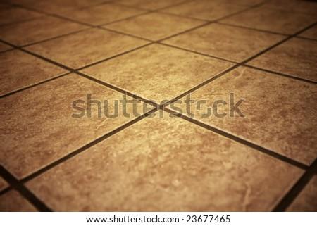 retro tiles with shallow DOF - stock photo