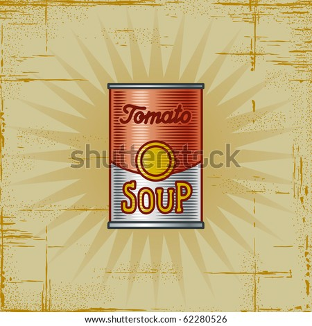 Retro Tomato Soup Can - stock photo