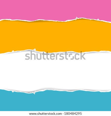Retro Torn Paper Background  - stock photo