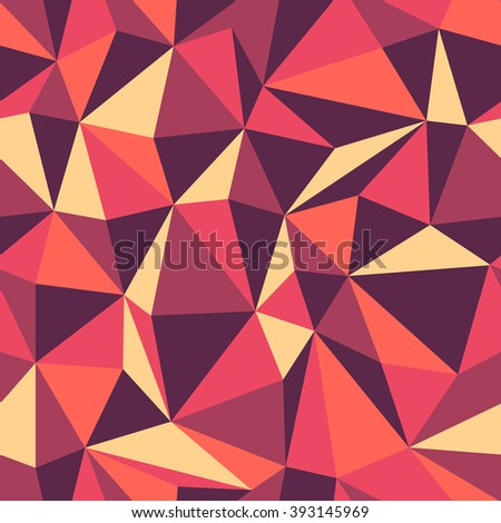 Retro Triangle seamless colorful pattern. Raster version