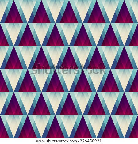 retro triangle seamless pattern (raster version) - stock photo