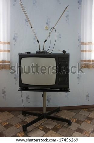 Retro tv. - stock photo