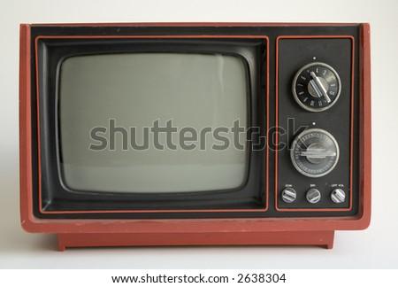 Retro TV from 1970 - stock photo