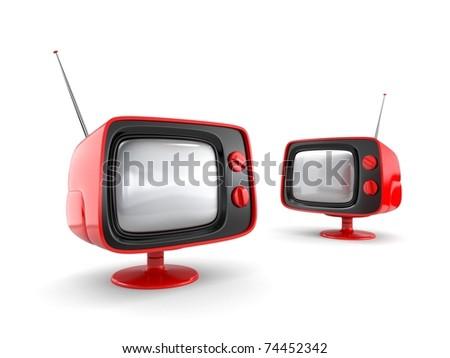 Retro TV. More TV in my gallery - stock photo