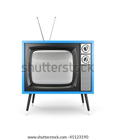 Retro TV. More TV in my portfolio - stock photo