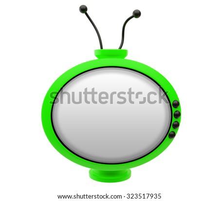 Retro TV on a white background - stock photo