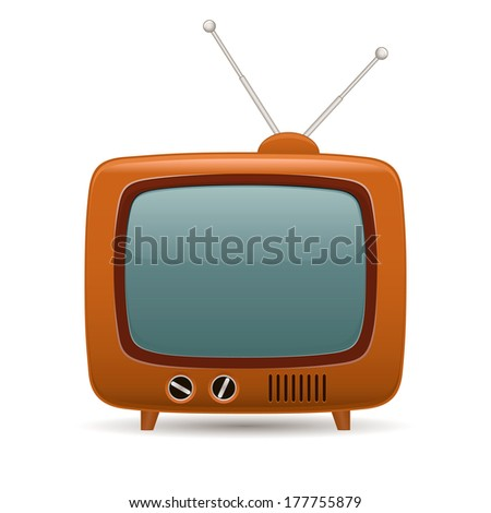 Retro tv. Raster version - stock photo