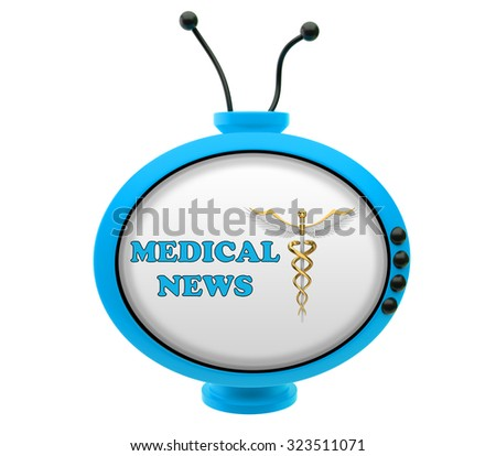 Retro TV with inscription medical news - stock photo