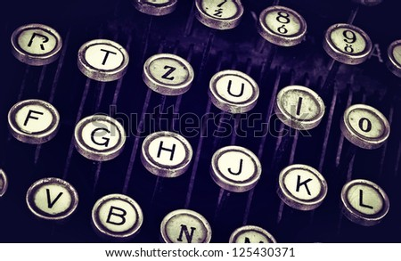 Retro typewriter - stock photo