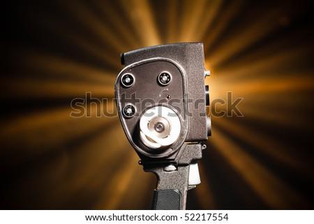 retro video camera - stock photo