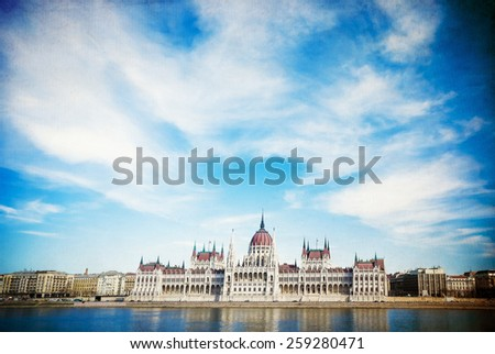 Retro view of historic architectural in Budapest, Hungary, Europe - stock photo