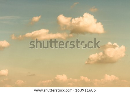 retro vintage cloud and sky - stock photo