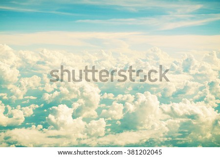Retro vintage color sky background - stock photo