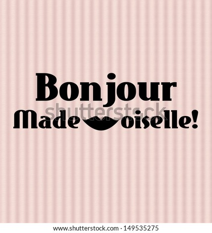 Retro, vintage elegant french style inspirational illustration. - stock photo