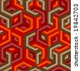 Retro vivid seamless hexagon background. Vector version is in my portfolio - stock photo