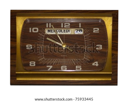 retro wall clock,design of the seventies