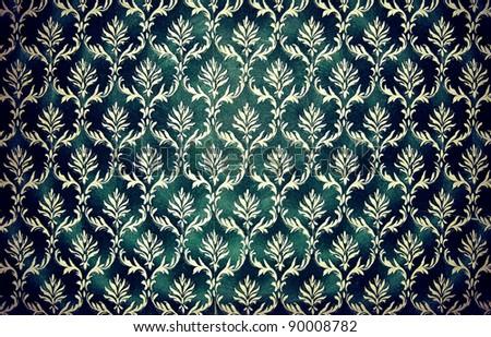Retro wallpaper seamless - stock photo