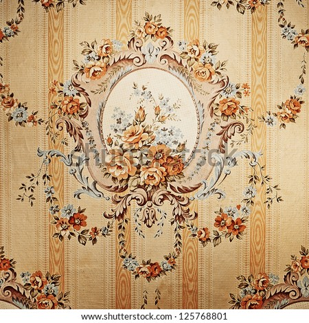 retro wallpaper texture - stock photo