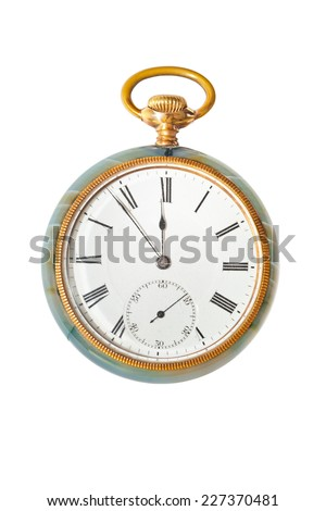 Retro watch isolated on white background