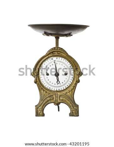 Retro weight scale isolated on a white background