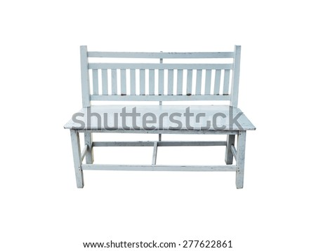 Retro white bench isolated on white background - stock photo