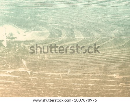 Retro wood background with soft beige green grain texture