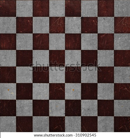 Retro wooden grunge chessboard background texture - stock photo