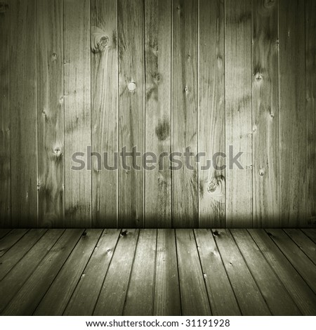 retro wooden house interior background - stock photo