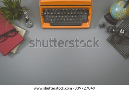 Retro writers hero header image - stock photo