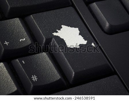 Return key in the shape of France.(series) - stock photo