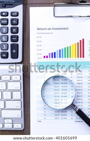 Return of Investment analysis in flat layout