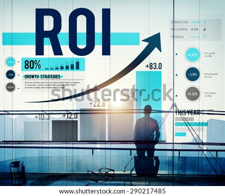 Return On Investment Financial Management Revenue Concept - stock photo