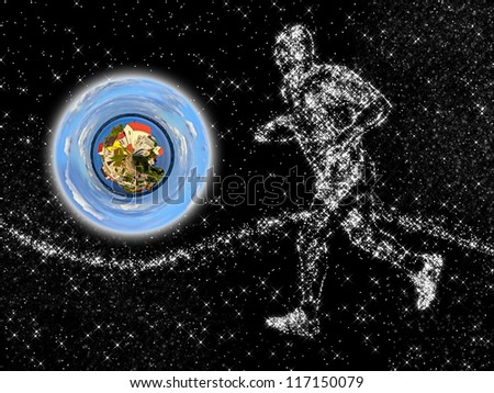 returning home - our planet is our home - stock photo