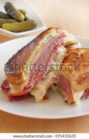 Reuben sandwich - stock photo