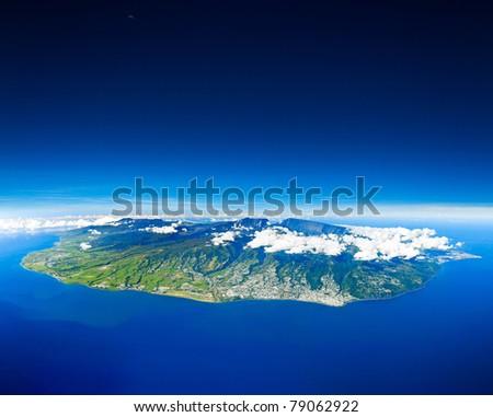 Reunion Island sight of the sky - stock photo