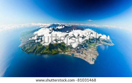 reunion island sight of the sky - stock photo